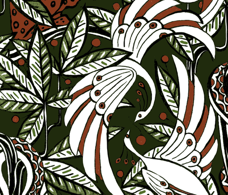 Jungle Deco fabric by ceanirminger on Spoonflower - custom fabric