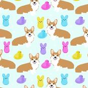 corgi marshmallow easter treats candy dog breed fabric pastel