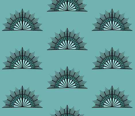 art deco fan fabric by bdarby on Spoonflower - custom fabric