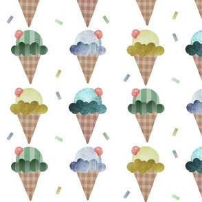 Large ice creams in blues