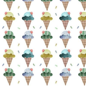 Small ice cream in blues