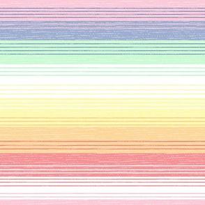 Vintage rainbow stripes