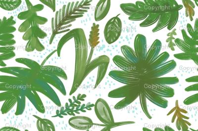 Emerald green leaves