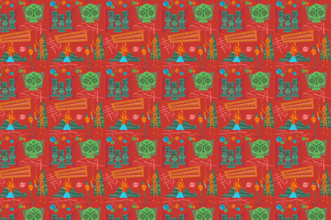 Pele's Lava fabric by brianrechenmacher on Spoonflower - custom fabric