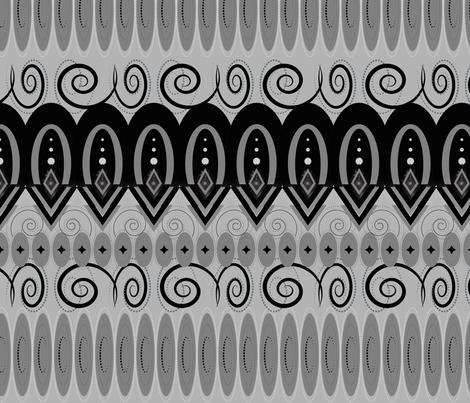 Art Deco Gray's fabric by stasiajahadi on Spoonflower - custom fabric