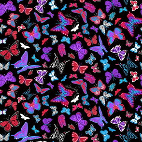 Bright Butterflies Take Flight at Night