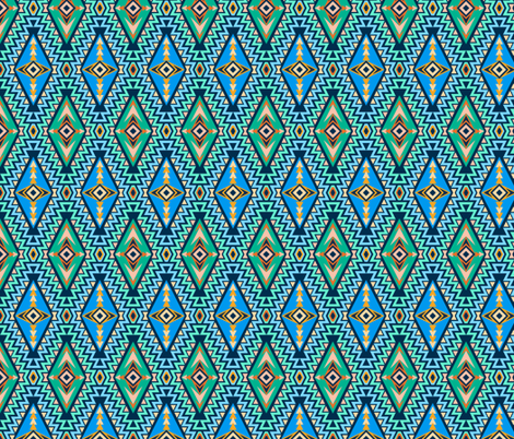 Sundown Kilim (sm) fabric by jjtrends on Spoonflower - custom fabric