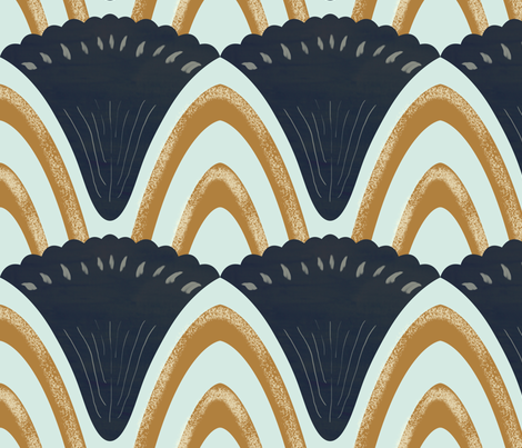 Deco Shells fabric by alicemoore on Spoonflower - custom fabric