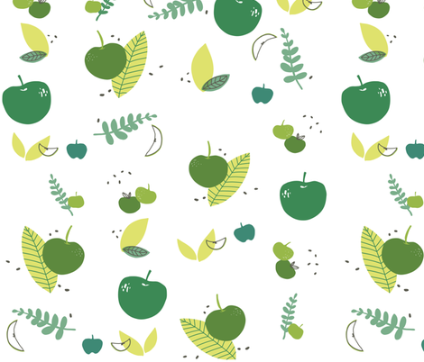 Apple Greens fabric by mrshervi on Spoonflower - custom fabric