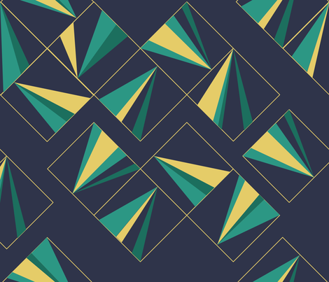 Art Deco Tiles fabric by ldpapers on Spoonflower - custom fabric
