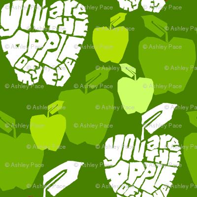 apple of my eye green
