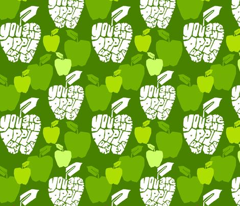 apple of my eye green fabric by novemberworkshop on Spoonflower - custom fabric