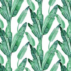 "banana leaves-minty-blue-green 6"""