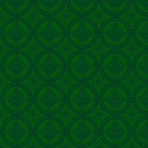 Authentic Design 002 - Dark Green on Light Green
