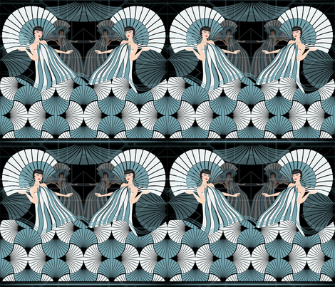 queen of the night fabric by kociara on Spoonflower - custom fabric