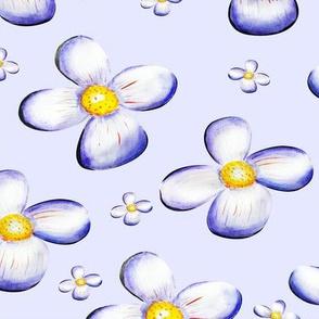 Flor Acuarela Violetas