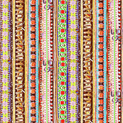boho stripes earth tones brights
