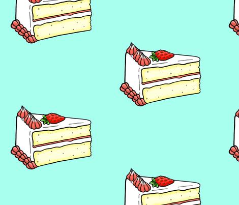 Strawberry Cake fabric by asmithart on Spoonflower - custom fabric