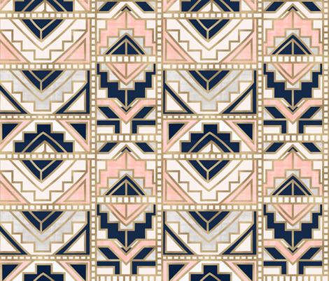 aztec-Navy Blush fabric by crystal_walen on Spoonflower - custom fabric
