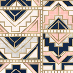 aztec-Navy Blush