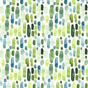Mini Green Watercolor Stripes