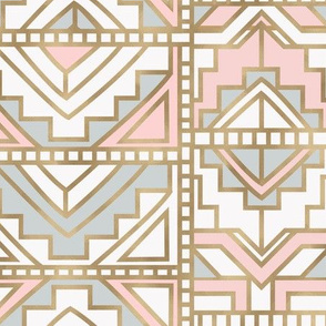 aztec-gray blush-gold