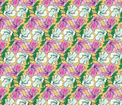 Azaleas  fabric by jto on Spoonflower - custom fabric