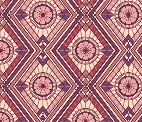 Copper Deco Romance fabric by rowena_lynn_designs on Spoonflower - custom fabric
