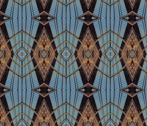 Art deco window Oxford, UK fabric by crafters_b_crazy on Spoonflower - custom fabric