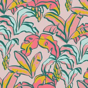 Banana Palms - Pink
