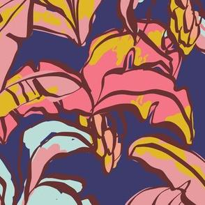 Banana Palms - Blue