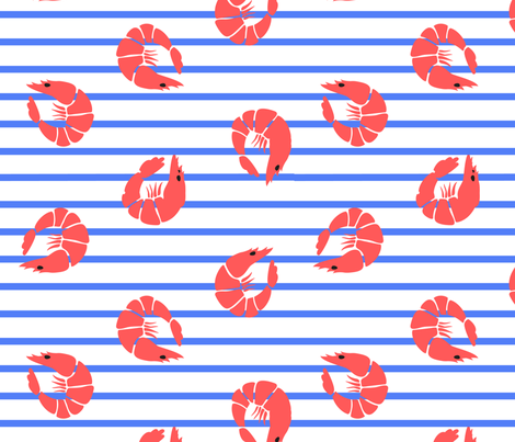 Prawny for PP fabric by elliewhittaker on Spoonflower - custom fabric