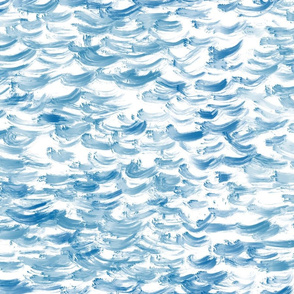 Blue waves painted