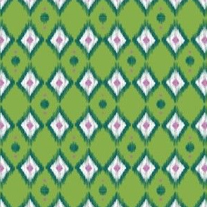 Emerald Ikat with Pea Green