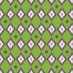 Pink Ikat with Pea Green