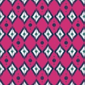 Blue Ikat with Magenta