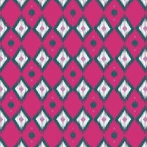 Emerald Ikat with Magenta