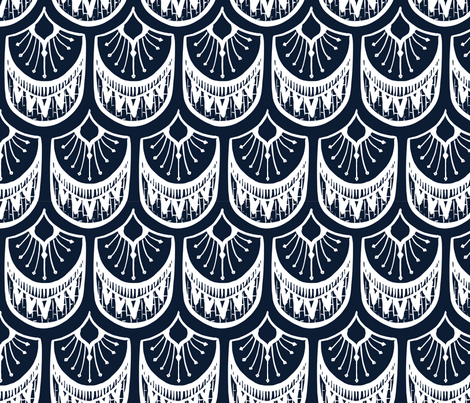 artdeco navy fabric by rockridgeacres on Spoonflower - custom fabric
