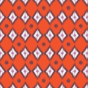 Pink Ikat with Tangerine