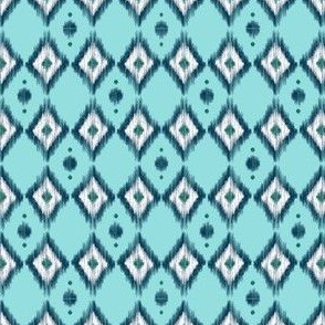 Blue Ikat with Teal