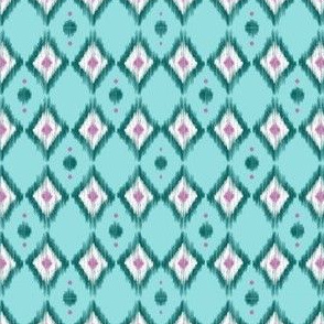 Emerald Ikat with Teal