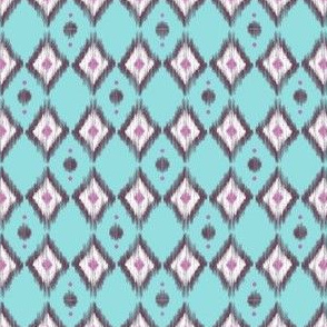 Pink Ikat with Teal