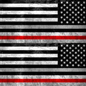 red thin line flag left