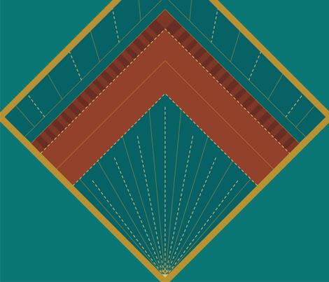 Art Deco Diamond fabric by kefrost on Spoonflower - custom fabric