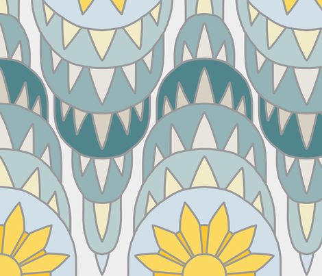 Art Deco medallion fabric by victorialasher on Spoonflower - custom fabric