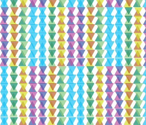 Pastel Triangles fabric by rayhunt on Spoonflower - custom fabric