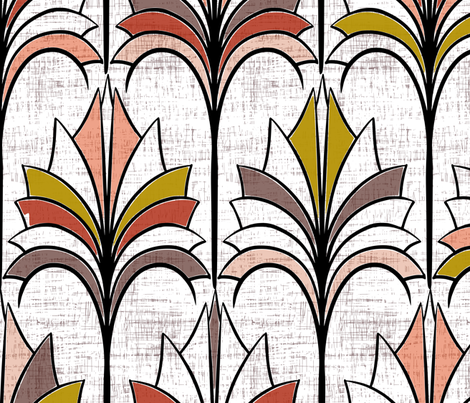 Big Fans Of Art Deco fabric by mrshervi on Spoonflower - custom fabric