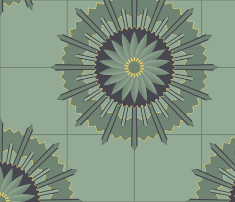 ArtDeco7 fabric by piecefulbee on Spoonflower - custom fabric