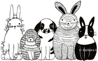 Bunnies in a Row