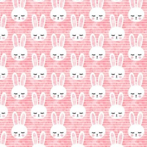 "1.5"" bunnies on pink (sleepy bunny)"